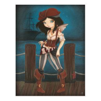 Jane - carte postale féerique de pirate