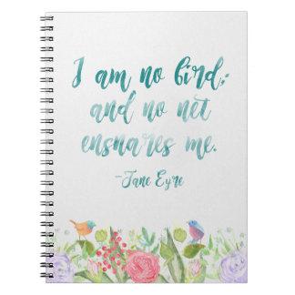 Jane Eyre - je ne suis aucun oiseau - carnet