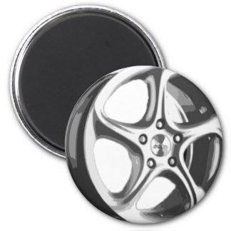 Jante décorative de voiture magnet rond 8 cm