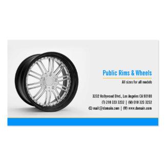 Jantes et cartes de visite de Body Shop de roues Modèle De Carte De Visite