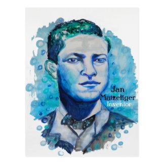 Janv. Matzeliger - carte postale noire d'inventeur