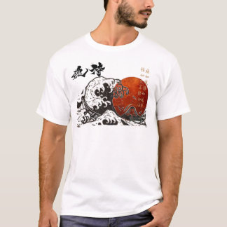 Japan Samouraï soul hokusai The Great Wave T-shirt