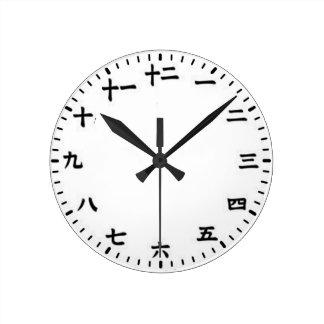 Japonais Horloge Ronde