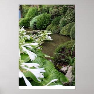 Jardin 1 de zen avec la frontière blanche d'autres affiche