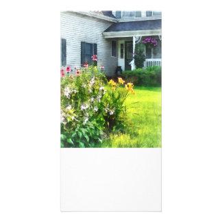 Jardin avec Coneflowers et lis Photocarte Personnalisée