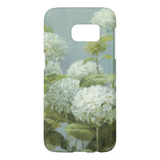Jardin blanc d'hortensia coque samsung galaxy s7