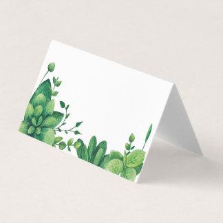 Jardin botanique de vert de carte d'allocation des carte de placement