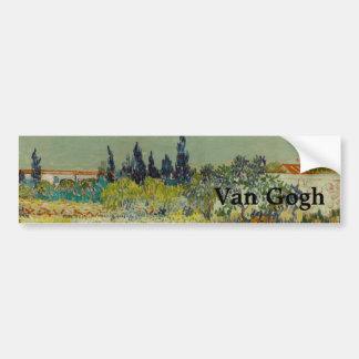Jardin chez Arles par Vincent van Gogh Autocollant Pour Voiture