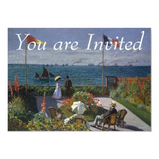 Jardin chez Sainte-Adresse par Claude Monet Carton D'invitation 11,43 Cm X 15,87 Cm