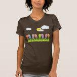 Jardin coloré d'amusement de bascules électronique t-shirts