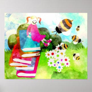Jardin coloré poster
