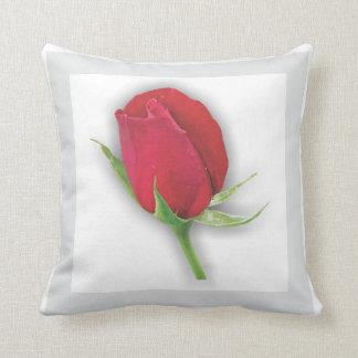 Jardin d'agrément - coussin rouge foncé de rose