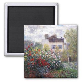 Jardin dans Giverny par l'aimant de beaux-arts de Magnet Carré