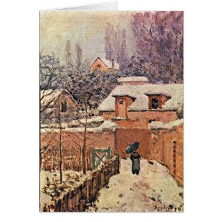 Jardin dans Louveciennes, hiver par Alfred Sisley Cartes