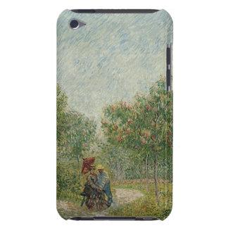 Jardin dans Montmartre avec des amants Coque iPod Case-Mate