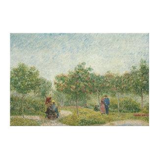 Jardin dans Montmartre avec des amants Toiles