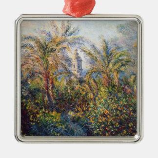 Jardin de Claude Monet   dans Bordighera Ornement Carré Argenté