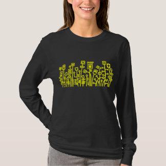 Jardin de Cyber - jaune sur l'obscurité T-shirt