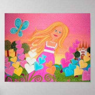 Jardin de delphinium - princesse Kids Art de la Posters