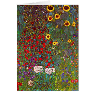 Jardin de ferme de Gustav Klimt avec la carte de