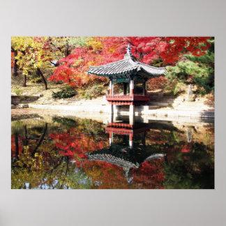 Jardin de Japonais d automne de Séoul Posters