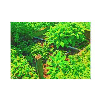 Jardin de jardin toile