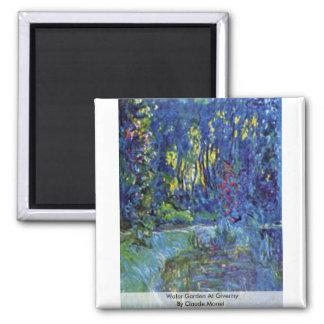 Jardin de l'eau chez Giverny par Claude Monet Magnet Carré