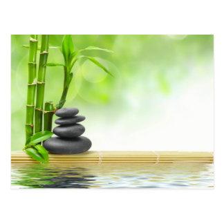 Jardin de l'eau de tranquilité de zen par l'amour  carte postale