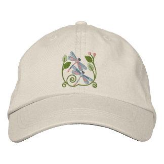 Jardin de libellule casquette brodée