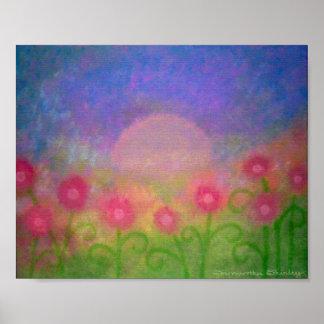 Jardin de minuit - les roses du clair de lune 8x10 posters