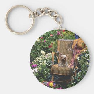 Jardin de porte - clé de Yorkshire Terrier Porte-clés