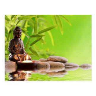 jardin de sérénité de zen de Bouddha Carte Postale