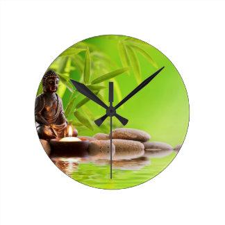 jardin de sérénité de zen de Bouddha Horloge