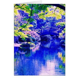 jardin de style japonais carte de vœux
