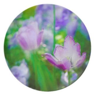 Jardin de tulipe, Giverny, France Assiettes En Mélamine