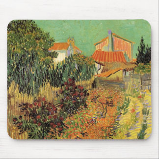 Jardin de Van Gogh derrière une Chambre, Tapis De Souris