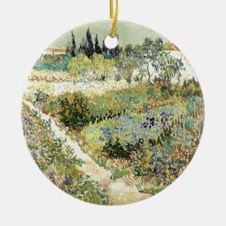 Jardin de Vincent van Gogh chez Arles Ornement Rond En Céramique