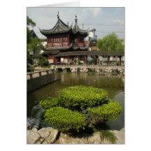 Jardin de Yuyan, Changhaï, Chine Carte De Vœux