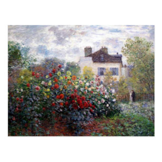 Jardin des beaux-arts de dahlias carte postale