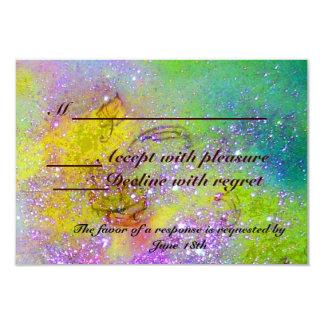 JARDIN DES OMBRES PERDUES/DU PAPILLON MAGIQUE RSVP CARTON D'INVITATION 8,89 CM X 12,70 CM