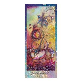JARDIN DES OMBRES PERDUES - PLANTE DE PAPILLON CARTON D'INVITATION  10,16 CM X 23,49 CM