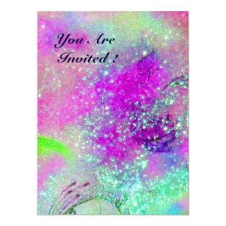 JARDIN DES OMBRES PERDUES, PLANTE DE PAPILLON CARTON D'INVITATION  16,51 CM X 22,22 CM