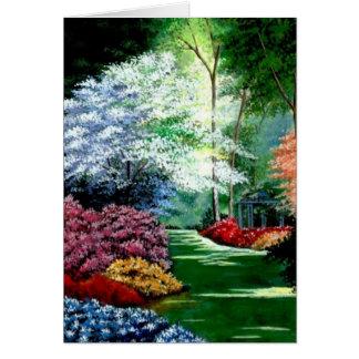Jardin d'été carte de vœux