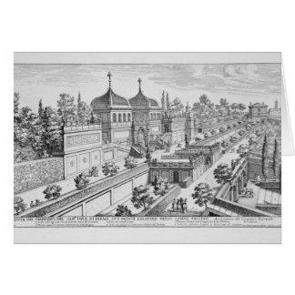 Jardin du duc de Parme sur la colline de Palatine, Carte De Vœux