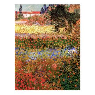Jardin fleurissant par Vincent van Gogh Carte Postale