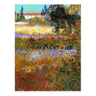 Jardin fleurissant par Vincent van Gogh Cartes Postales