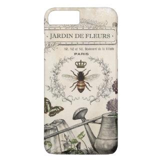 Jardin français vintage moderne d'abeille coque iPhone 7 plus