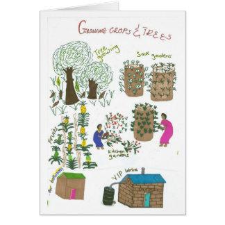 Jardin impeccable de sac carte de vœux