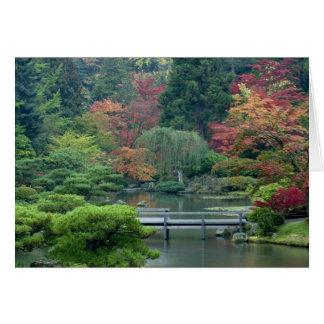 Jardin japonais au parc de Washington Cartes