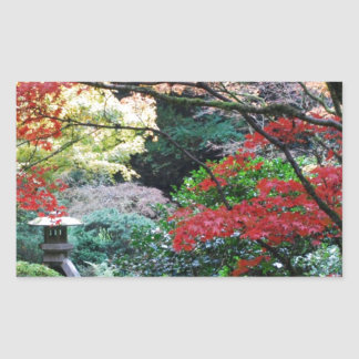 Jardin japonais sticker en rectangle